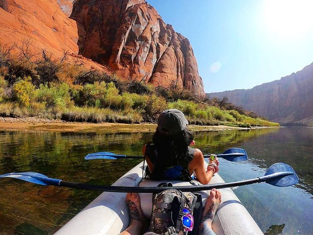 kayaking the colorado river lees ferry kayak backhaul